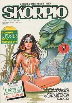 Copertina SKORPIO ANNO 10 n.24 - SKORPIO 1986            24, EDITORIALE AUREA