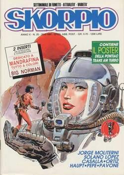 Copertina SKORPIO ANNO 10 n.25 - SKORPIO 1986            25, EDITORIALE AUREA