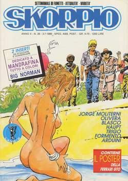 Copertina SKORPIO ANNO 10 n.26 - SKORPIO 1986            26, EDITORIALE AUREA
