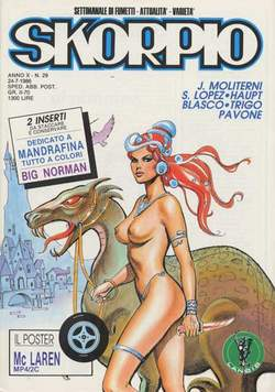 Copertina SKORPIO ANNO 10 n.29 - SKORPIO 1986            29, EDITORIALE AUREA