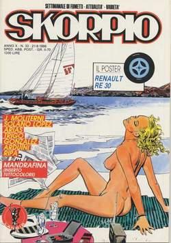 Copertina SKORPIO ANNO 10 n.33 - SKORPIO 1986            33, EDITORIALE AUREA