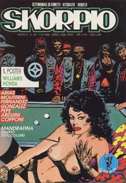 Copertina SKORPIO ANNO 10 n.36 - SKORPIO 1986            36, EDITORIALE AUREA