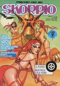 Copertina SKORPIO ANNO 10 n.37 - SKORPIO 1986            37, EDITORIALE AUREA