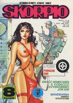 Copertina SKORPIO ANNO 10 n.40 - SKORPIO 1986            40, EDITORIALE AUREA