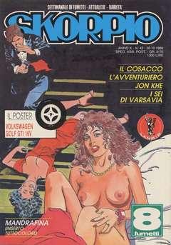 Copertina SKORPIO ANNO 10 n.43 - SKORPIO 1986            43, EDITORIALE AUREA