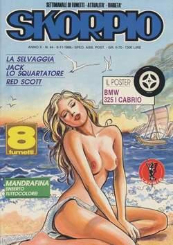 Copertina SKORPIO ANNO 10 n.44 - SKORPIO 1986            44, EDITORIALE AUREA