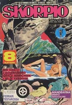 Copertina SKORPIO ANNO 10 n.45 - SKORPIO 1986            45, EDITORIALE AUREA
