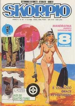 Copertina SKORPIO ANNO 10 n.49 - SKORPIO 1986            49, EDITORIALE AUREA