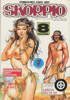 Copertina SKORPIO ANNO 10 n.50 - SKORPIO 1986            50, EDITORIALE AUREA