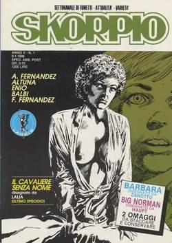 Copertina SKORPIO ANNO 10 n.1 - SKORPIO 1986             1, EDITORIALE AUREA