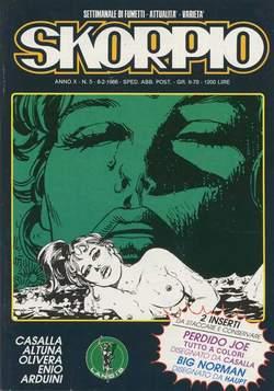 Copertina SKORPIO ANNO 10 n.5 - SKORPIO 1986             5, EDITORIALE AUREA