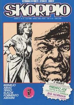 Copertina SKORPIO ANNO 10 n.6 - SKORPIO 1986             6, EDITORIALE AUREA