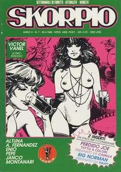 Copertina SKORPIO ANNO 10 n.7 - SKORPIO 1986             7, EDITORIALE AUREA