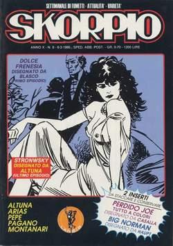 Copertina SKORPIO ANNO 10 n.9 - SKORPIO 1986             9, EDITORIALE AUREA