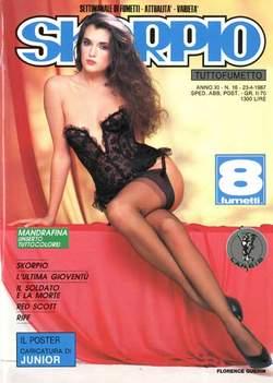 Copertina SKORPIO ANNO 11 n.16 - SKORPIO 1987            16, EDITORIALE AUREA