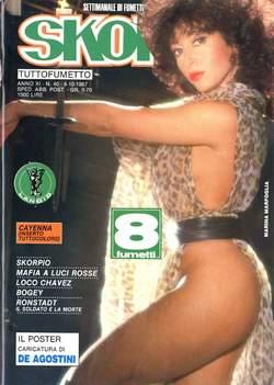 Copertina SKORPIO ANNO 11 n.40 - SKORPIO 1987            40, EDITORIALE AUREA