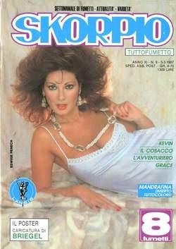 Copertina SKORPIO ANNO 11 n.9 - SKORPIO 1987             9, EDITORIALE AUREA