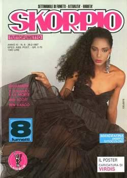 Copertina SKORPIO ANNO 11 n.8 - SKORPIO 1987             8, EDITORIALE AUREA