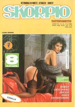 Copertina SKORPIO ANNO 12 n.12 - SKORPIO 1988            12, EDITORIALE AUREA