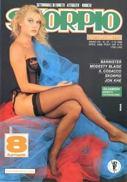 Copertina SKORPIO ANNO 12 n.47 - SKORPIO 1988            47, EDITORIALE AUREA