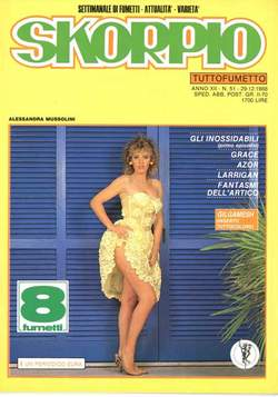 Copertina SKORPIO ANNO 12 n.51 - SKORPIO 1988            51, EDITORIALE AUREA