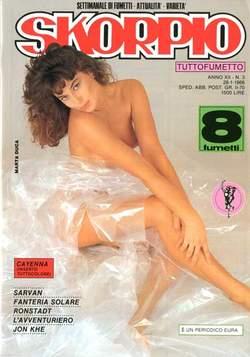 Copertina SKORPIO ANNO 12 n.3 - SKORPIO 1988             3, EDITORIALE AUREA