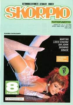 Copertina SKORPIO ANNO 12 n.4 - SKORPIO 1988             4, EDITORIALE AUREA
