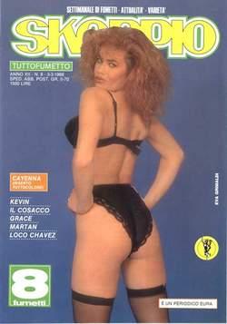 Copertina SKORPIO ANNO 12 n.8 - SKORPIO 1988             8, EDITORIALE AUREA