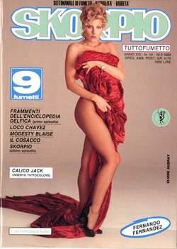 Copertina SKORPIO ANNO 13 n.10 - SKORPIO 1989            10, EDITORIALE AUREA