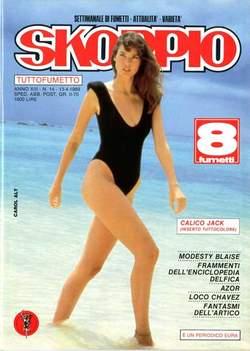 Copertina SKORPIO ANNO 13 n.14 - SKORPIO 1989            14, EDITORIALE AUREA