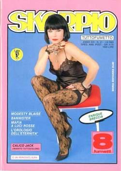 Copertina SKORPIO ANNO 13 n.21 - SKORPIO 1989            21, EDITORIALE AUREA