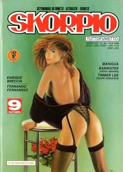 Copertina SKORPIO ANNO 13 n.34 - SKORPIO 1989            34, EDITORIALE AUREA