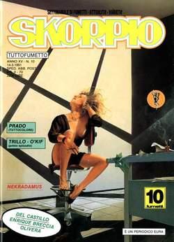 Copertina SKORPIO ANNO 15 n.10 - SKORPIO 1991            10, EDITORIALE AUREA