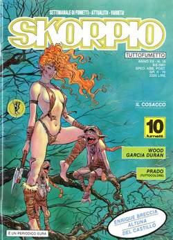 Copertina SKORPIO ANNO 15 n.18 - SKORPIO 1991            18, EDITORIALE AUREA