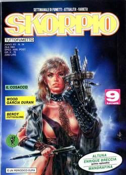 Copertina SKORPIO ANNO 15 n.34 - SKORPIO 1991            34, EDITORIALE AUREA