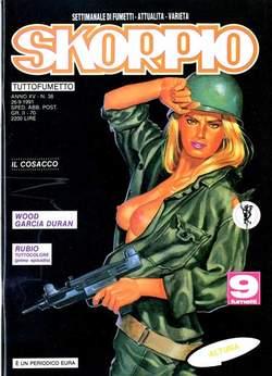 Copertina SKORPIO ANNO 15 n.38 - SKORPIO 1991            38, EDITORIALE AUREA