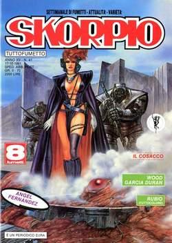 Copertina SKORPIO ANNO 15 n.41 - SKORPIO 1991            41, EDITORIALE AUREA