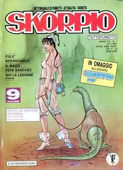 Copertina SKORPIO ANNO 15 n.1 - SKORPIO 1991             1, EDITORIALE AUREA