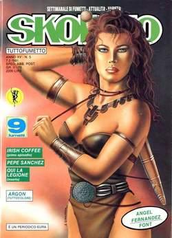 Copertina SKORPIO ANNO 15 n.5 - SKORPIO 1991             5, EDITORIALE AUREA