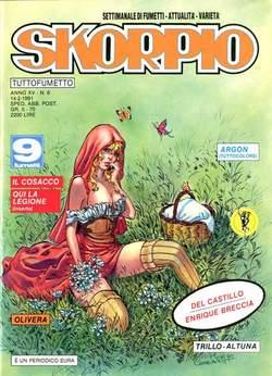 Copertina SKORPIO ANNO 15 n.6 - SKORPIO 1991             6, EDITORIALE AUREA
