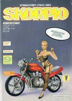 Copertina SKORPIO ANNO 16 n.10 - SKORPIO 1992            10, EDITORIALE AUREA