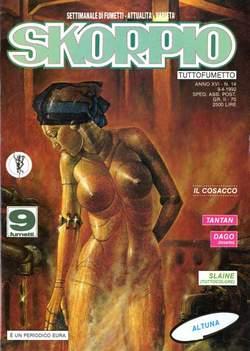 Copertina SKORPIO ANNO 16 n.14 - SKORPIO 1992            14, EDITORIALE AUREA