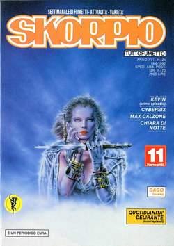 Copertina SKORPIO ANNO 16 n.24 - SKORPIO 1992            24, EDITORIALE AUREA