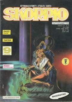 Copertina SKORPIO ANNO 16 n.7 - SKORPIO 1992             7, EDITORIALE AUREA