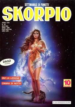 Copertina SKORPIO ANNO 18 n.38 - SKORPIO 1994            38, EDITORIALE AUREA