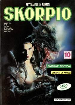 Copertina SKORPIO ANNO 19 n.8 - SKORPIO 1995             8, EDITORIALE AUREA