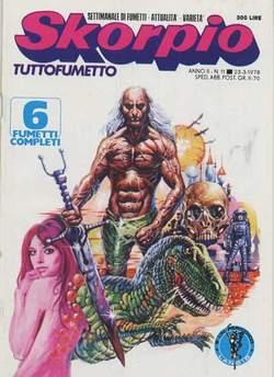 Copertina SKORPIO ANNO  2 n.11 - SKORPIO 1978            11, EDITORIALE AUREA