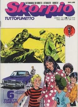 Copertina SKORPIO ANNO  2 n.12 - SKORPIO 1978            12, EDITORIALE AUREA