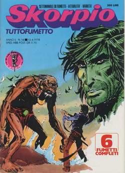 Copertina SKORPIO ANNO  2 n.14 - SKORPIO 1978            14, EDITORIALE AUREA