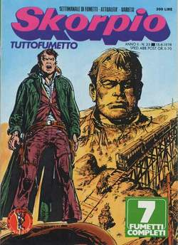 Copertina SKORPIO ANNO  2 n.23 - SKORPIO 1978            23, EDITORIALE AUREA